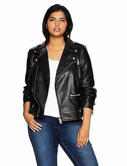 Levi's SZ Women's Plus Faux Leather Contemporary Motorcycle