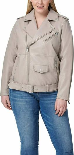 Levi's Women's Plus Size Oversized Faux Leather Belted Motor