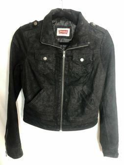 LEVI`S Womens Genuine Leather Jacket MSRP $250