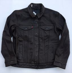 Levi's Genuine Leather Trucker Jacket - Brown
