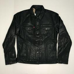 Levi's Genuine Leather Trucker Jacket - Size M