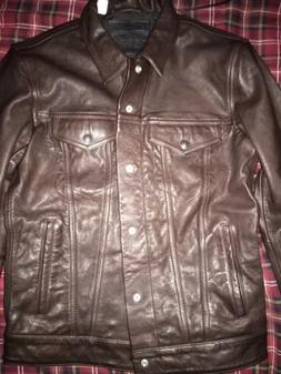 Levi's Genuine Leather Trucker Jacket. SMALL