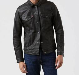 levis leather trucker jacket bovine x large