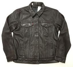 Levi's Leather Trucker Jacket - Brown