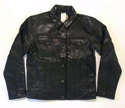 Levi's Leather Trucker Jacket - Black