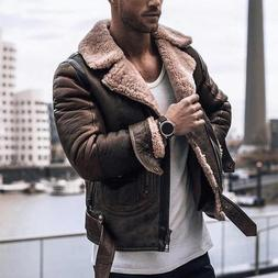 Men Coat <font><b>Jacket</b></font> Autumn Faux <font><b>Lea