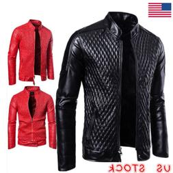 men s autumn leather jacket slim fit