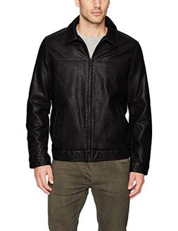 Tommy Hilfiger Men's Big and Tall Classic Faux Leather Jacke
