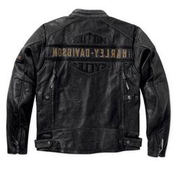 men s biker harley davidson distressed black