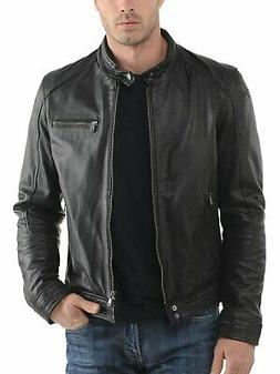 Laverapelle Men's Black Genuine Cowhide Leather Jacket  - 15