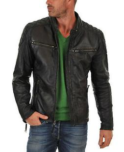 Laverapelle Men's Black Genuine Lambskin Leather Jacket  - 1