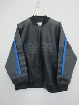 men s faux leather tracksuit jacket small