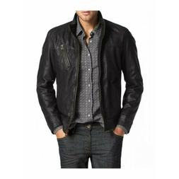 Laverapelle Men's Genuine Lambskin Black Leather Jackets - 1