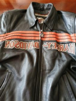 ⭐ MEN'S HARLEY DAVIDSON HD CLASSIC RIDERS LEATHER JACKET S