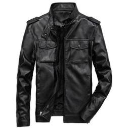 Men's Jackets Motorcycle Coats Stand Collar Outerwear Slim F