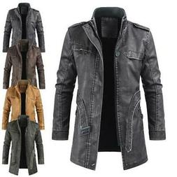 Men's Jackets Thickened Warm Casual Motorcycle Stand Collar