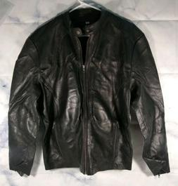 Men's Maximus Black Genuine Lambskin Leather Biker Jacket Me
