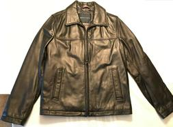Tommy Hilfiger Men's Open Bottom Classic Leather Jacket - Me
