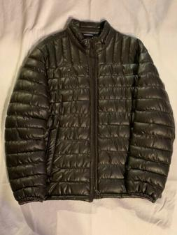 Tommy Hilfiger Men's Quilted Faux-Leather Puffer Jacket MSRP