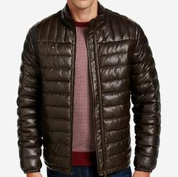 Tommy Hilfiger Men's Quilted Faux-Leather Puffer Jacket - Al