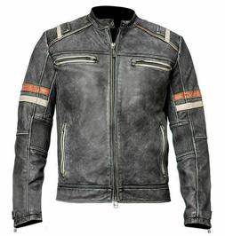 Men's Retro 2 Cafe Racer Vintage Motorcycle Distressed Moto