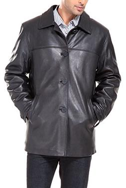 BGSD Men's Samuel New Zealand Lambskin Leather Car Coat - Bi