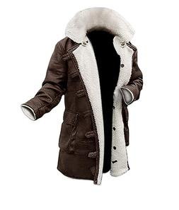 Men's The Dark Knight Rises Bane Tom Hardy Faux Fur Brown Le