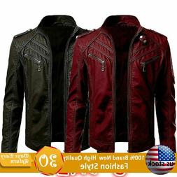 Men Punk Coats Leather Jacket Street Style Cool Motorcycle G