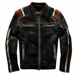 mens biker vintage motorcycle cafe racer black