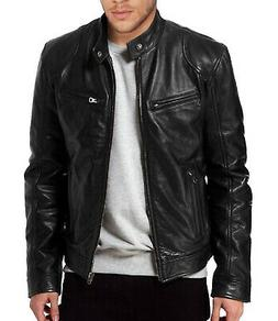 Laverapelle Mens Black Genuine Lambskin Leather Jacket - 150