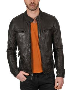 Laverapelle Mens Brown Genuine Lambskin Leather Jacket - 150