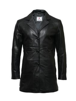 Brandslock Mens Genuine Lambskin Leather Jacket Slim fit Coa