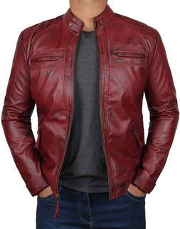 Mens Leather Jacket - Quilted Real Lambskin Leather Jackets