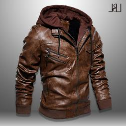 Mens PU <font><b>Jackets</b></font> Outwear <font><b>Leather