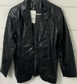 Benibos Mens Soft Faux Leather Black Jacket 2 Front Pockets