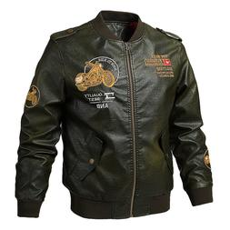 Motorcycle <font><b>Jacket</b></font> Men PU <font><b>Leathe