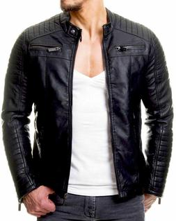 new 100 percent leather jacket coat men