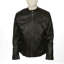 NEW Blingsoul 1100443 Men's Motorcycle Leather in Black Leat
