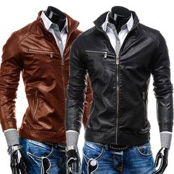 New Arrived Motorcycle bike <font><b>Leather</b></font> Men'