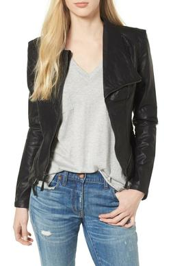 New BlankNYC Blank NYC Women's Black Faux Leather Jacket Siz
