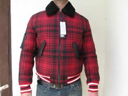 NEW Tommy Hilfiger Collection TARTAN SHEARLING BOMBER JACKET