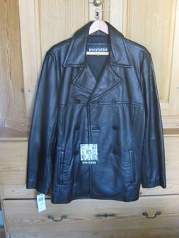 NEW KENNETH COLE BLACK LAMBS SKIN LEATHER JACKET COAT MEDIUM