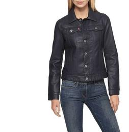 NEW Levi's Women's Classic Faux Leather Trucker Jacket Mediu