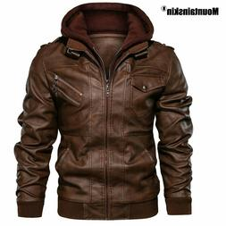 New Men's Leather Jackets Autumn Casual Motorcycle PU Jacket