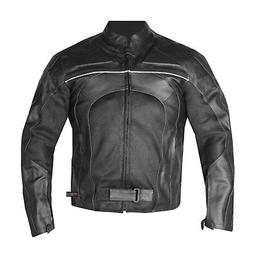 New Men's Razer Motorcycle Biker CE Armor Mesh & Leather Bla