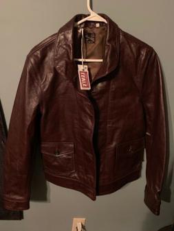 NEW Vintage Levi's $995 Menlo Cossack Italy Brown Leather