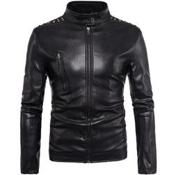 New Vintage Mens PU <font><b>Leather</b></font> Motorcycle <