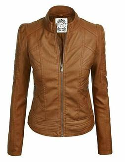 New Made by Johnny WJC746 Vegan Leather Womens Motorcycle Ja