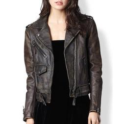 new women cafe racer moto biker distressed