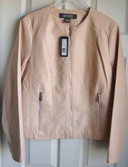 New Kenneth Cole Reaction Women's Faux Leather Moto Jackets